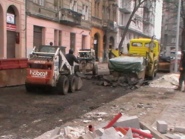 Nyír-Épker aszfaltbontási munkálatok belváros