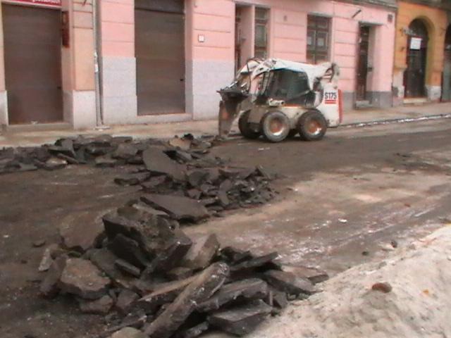 Nyír-Épker aszfaltbontási munkálatok távolról